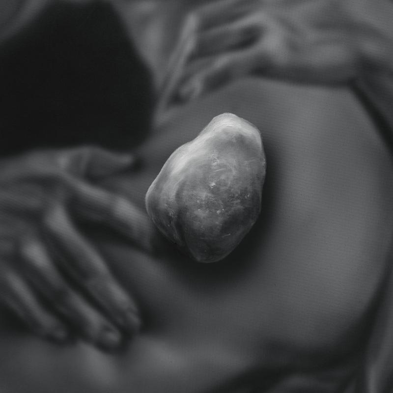 Kamene 22, 50x40cm, olej a akryl na plátne, 2020