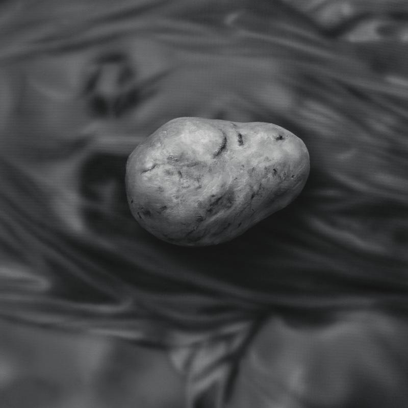Kamene 18, 50x40cm, olej a akryl na plátne, 2020