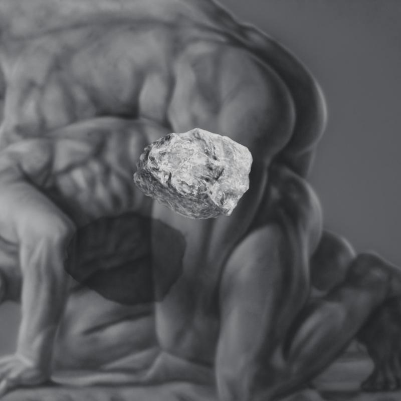 Kamene 5, 190x150cm, olej a akryl na plátne, 2020