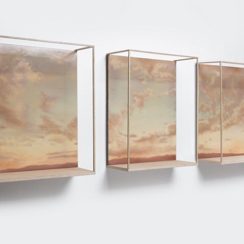 Priestor1, 3x 50x40cm, olej na plátne, 2018
