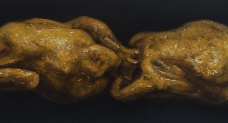 Bez komentára, 25x220cm, olej na plátne, 2015